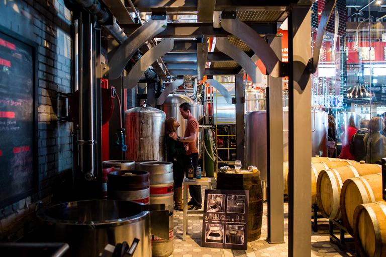 kingston photographer engagement photos amsterdam brewery toronto make portraits