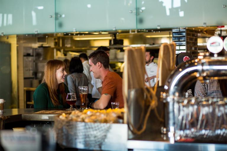 kingston photographer engagement photos amsterdam brewery toronto make portraits connection bar beer